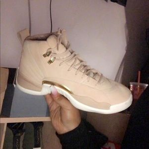 Tan women's retro air jordan 12's